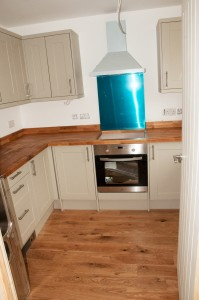 A newly fitted kitchen